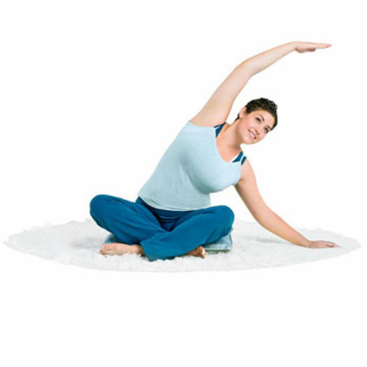 seated side bend stretching before bed yoga pose