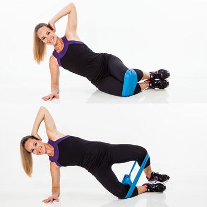 clamshell hips legs butt resistance band exercise