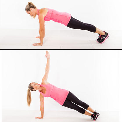 best rotator cuff exercise for women plank rotation