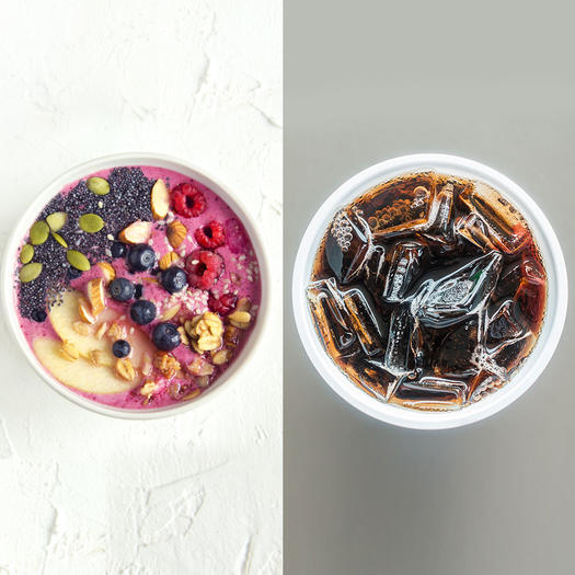 acai bowl sugar content vs coke sugar content