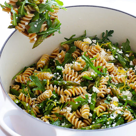 healthy pasta recipe asparagus and arugula