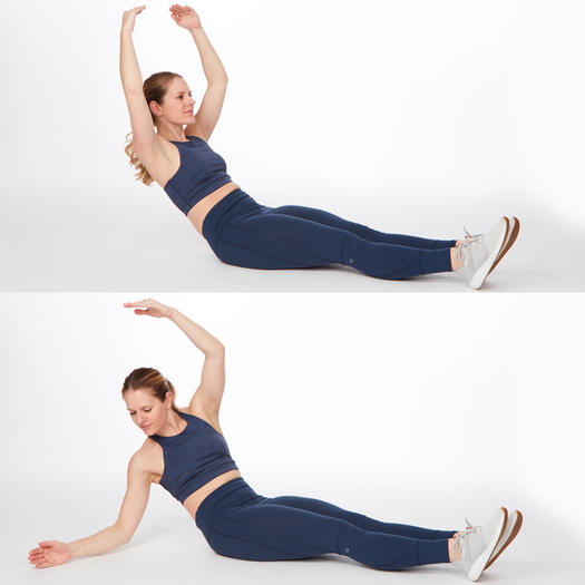 ballet twist easy abs exercise workout for women