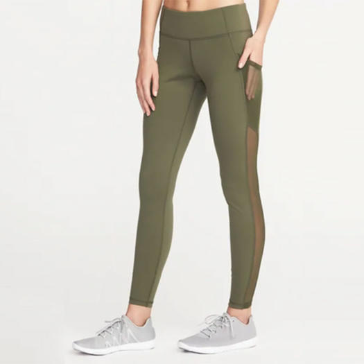 71f6db8dd3470 Old Navy: Mid-Rise Mesh-Pocket Compression Leggings for Women. black friday  sale ...