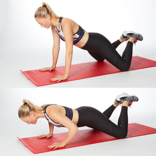diamond leg push up arm workout exercise