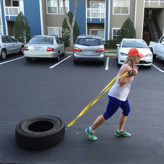diy homemade weight sled tire pull