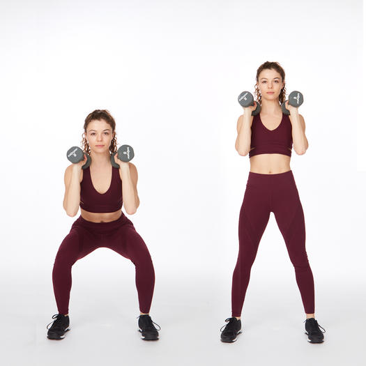 dumbbell squat thigh exercise