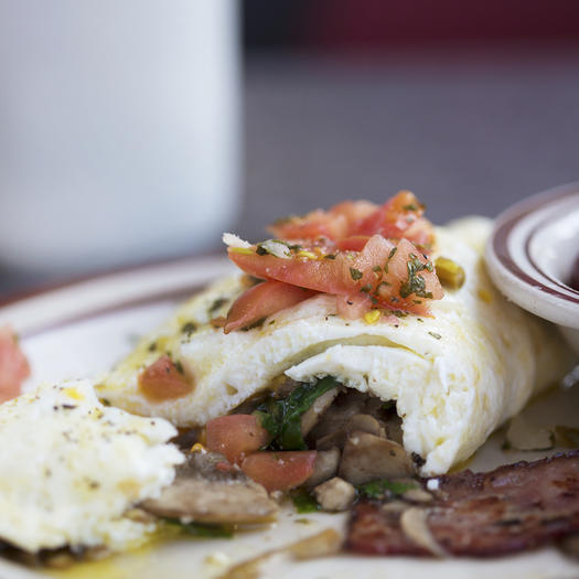 egg white omelet high protein low carb