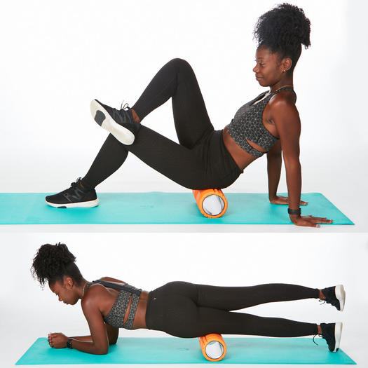 hips foam rolling it band stretches