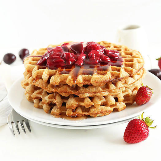 7-Ingredient Vegan, Gluten-Free healthy Waffles