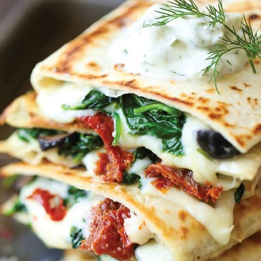 greek quesadilla lunch recipe for the mediterranean diet