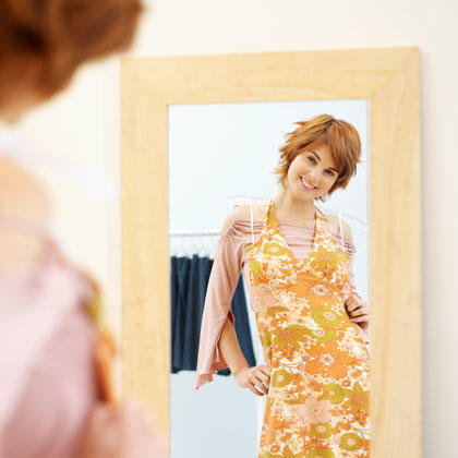 Motivate yourself by hanging your clothes by the mirror