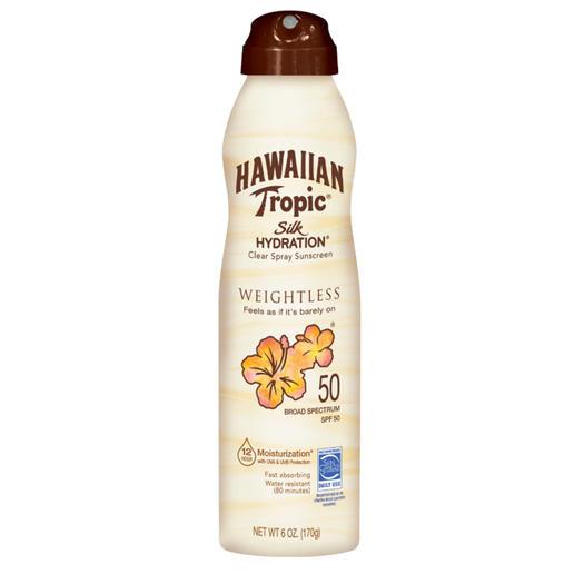 hawaiian tropic spray sunscreen spf 50
