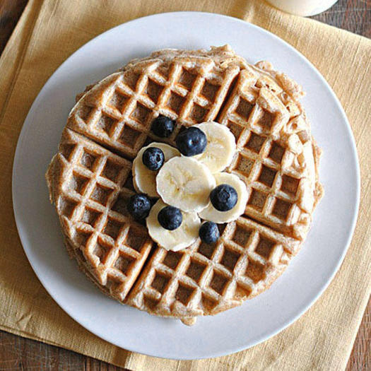 healthy whole wheat banana waffles