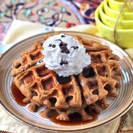 healthy quinoa protein waffles recipe