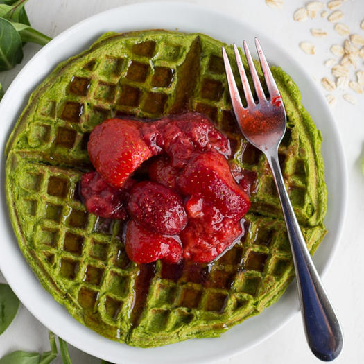 healthy spinach protein waffles recipe