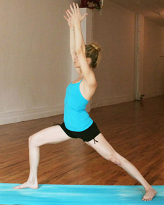 warrior I yoga poses for butt strength