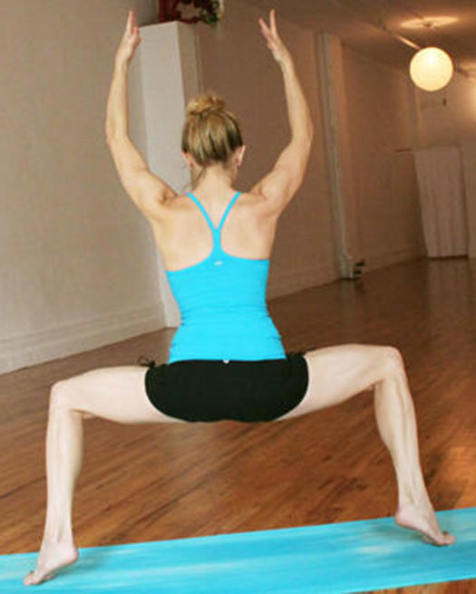 elevated wide squat yoga pose for your butt
