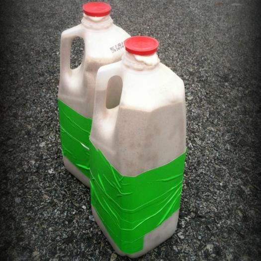 homemade dumbbells milk jugs water bottles