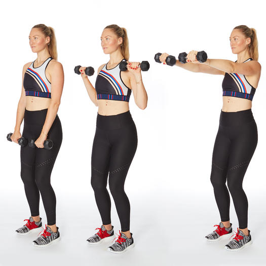 inverted curl press dumbbell arm exercises