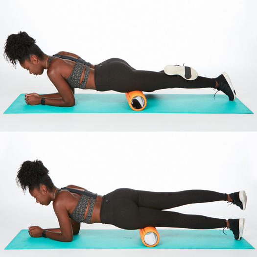 it band stretches foam rolling quads