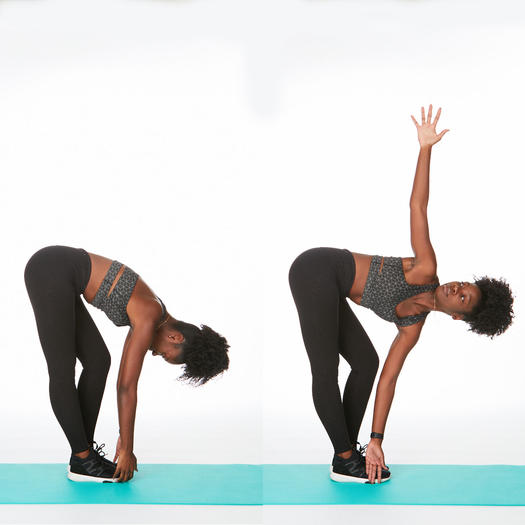 rotating forward fold it band stretch