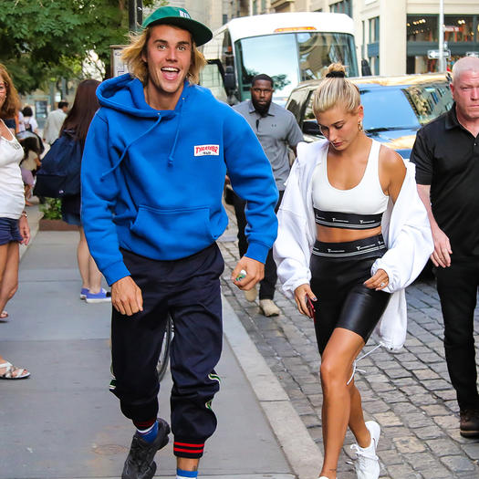 33d6e94fdff2 Justin Bieber and Hailey Baldwin Athleisure Street Style Looks ...