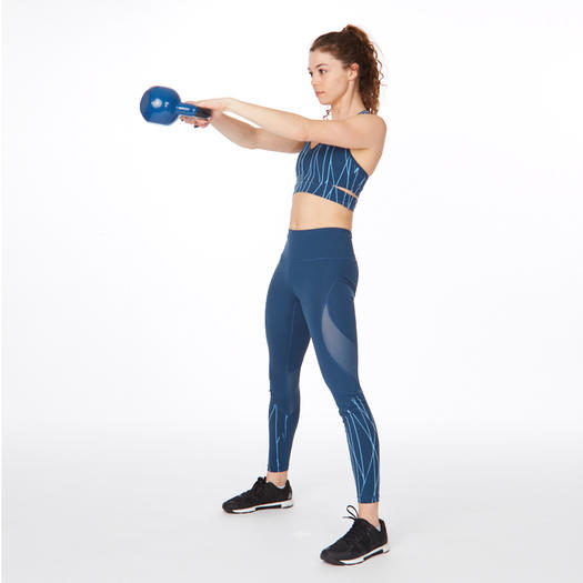 kettlebell swing strength training exercise for lifted butt