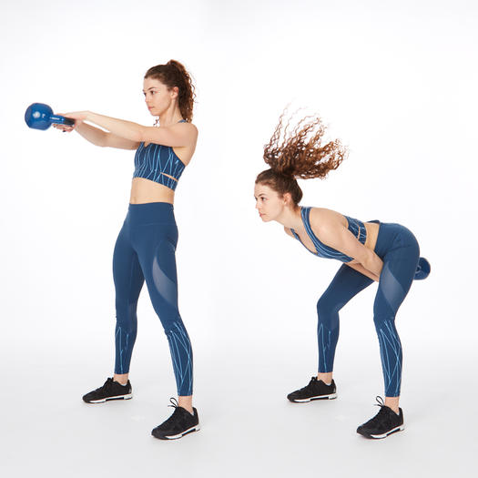 Kettlebell swing butt lifting exercise