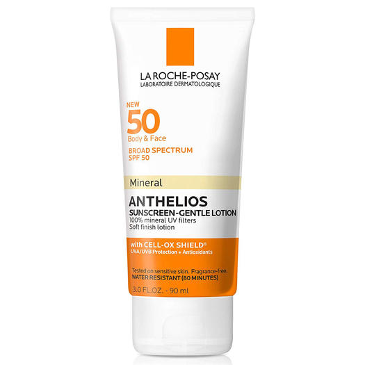 La Roche-Posay Anthelios 50 Gentle Mineral Sunscreen Lotion best suncreen for working out