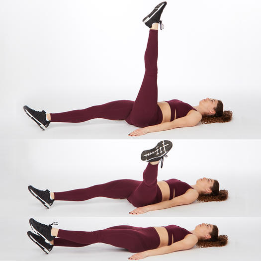 single-leg circle thigh exercise