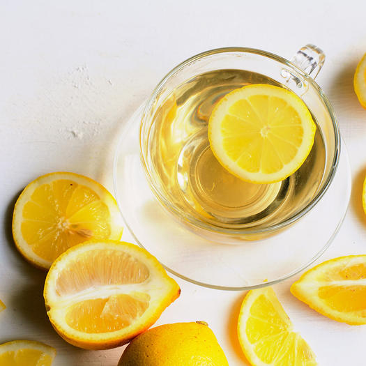 warm lemon water to help with bloating