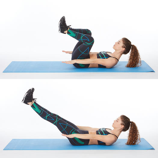 lower abs exercise frog press