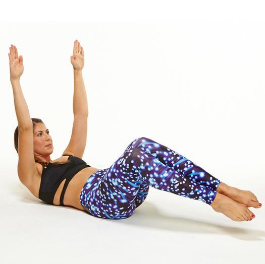 supine crunch obliques exercise