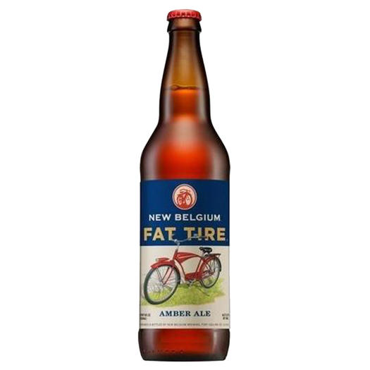 New Belgium fat tire beer bottle