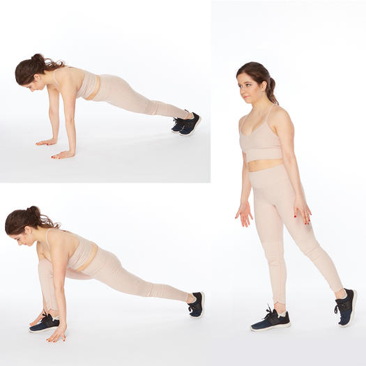 plank to stand up thigh slimming exercise