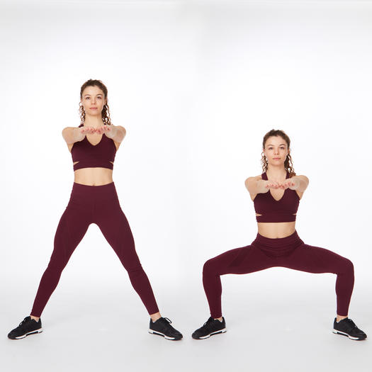 plie squat thigh workout exercise
