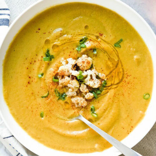 healthy recipe for Moroccan Spiced Cauliflower Soup