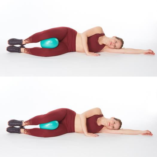 Reverse clamshells inner thighs exercise
