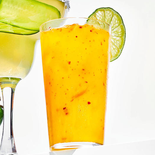 Lime Soda With Aleppo Pepper mocktail
