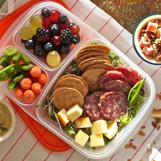 Salami and Cheese Bento Box idea