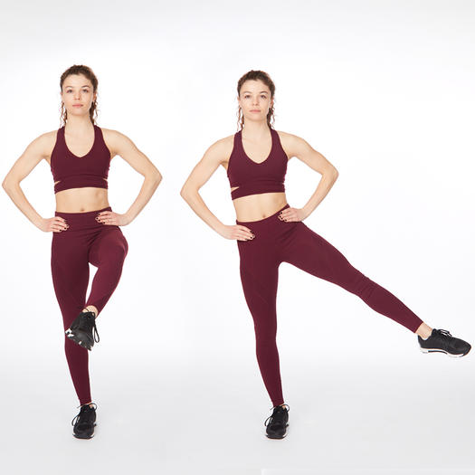 attitude side sweep thigh exercise
