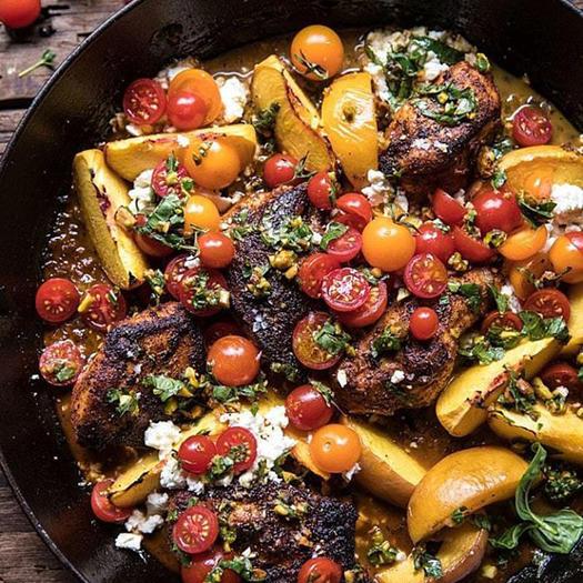 skillet moroccan chicken recipe