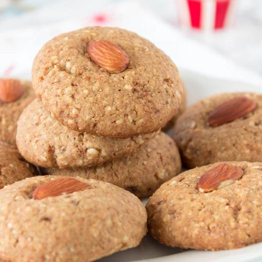 healthy Almond Sugar Cookies