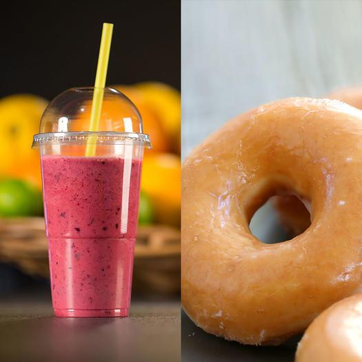sugar in smoothie vs krispy kreme donuts