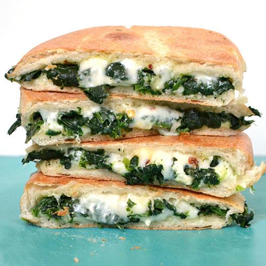 spinach feta grilled cheese mediterranean diet recipe