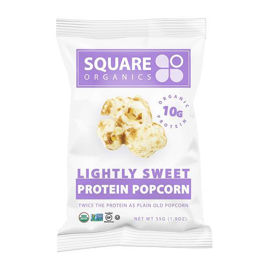 Square Organics Lightly Sweet Organic vegan Protein Popcorn