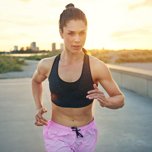strong woman running benefits of strength training