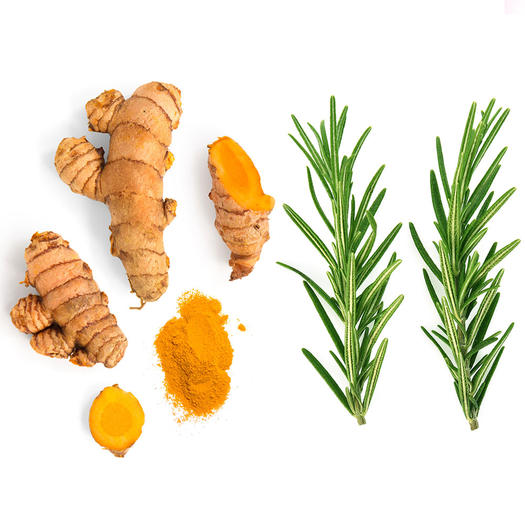 turmeric rosemary foods to help with bloating