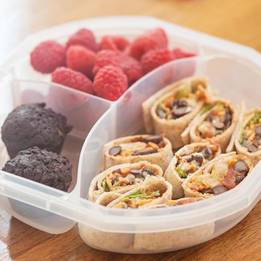 Vegetarian Taco Wraps bento box idea