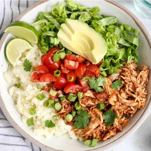 whole 30 recipe Instant Pot Chicken Burrito Bowls